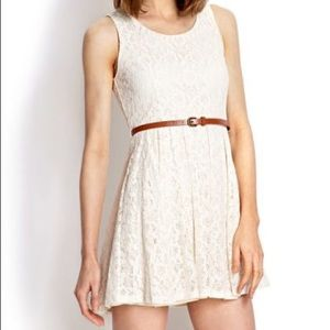 NWT forever 21 creamy ivory lace dress size medium